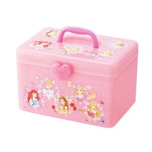 【Disney プリンセス 持ち手 収納 ボックス 仕切りトレー 】アクセサリー 入れ キャラクター 子供 学校 キャラクター グッズ ディズニー 収納ボックス おもちゃ箱 おかた