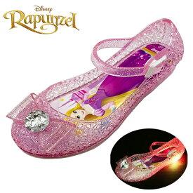 15b1850aee581 光る靴  Disney プリンセス  ラプンツェル 光る リボン付 ガラスの靴 ピンク 7334 15〜19cm  フラッシュスニーカー ディズニー  女の子 子ども こども グッズ 女児 ...
