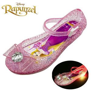 光る靴【 Disney プリンセス 【ラプンツェル】光る リボン付 ガラスの靴 ピンク 7334 15〜19cm 】フラッシュスニーカー ディズニー 女の子 子ども こども グッズ 女児 バレエサ