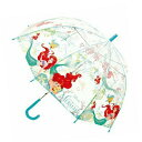 【Disney アリエル ドーム型 キッズ ビニール 傘 55cm 32419】ディズニー 幼児 通学 子供 学童 児童 雨…