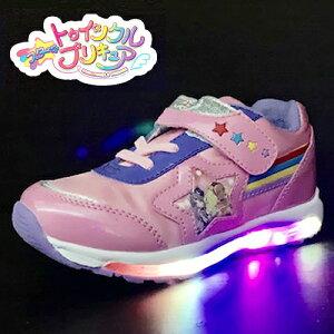 特価【光る靴 スター トゥインクル プリキュア フラッシュスニーカー ピンク SP7519-01】女の子 子ども こども キッズシューズ 靴 シューズ 女児 スニーカー 運動靴 キャラクタ