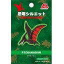 【 恐竜シルエット プテラノドン アイロン接着 ワッペン HE29 】こども キャラクター 子ども 手さげ袋 刺繍 …