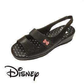 【 Disney ミッキーマウス ナースサンダル BK 6988 】ディズニー ミッキー ナースシューズ サンダル 美脚 ベルト かわいい キャラクター 抗菌 防臭 オフィスサンダル オフィス 軽い クッション OL 会社 つっかけ 靴 おしゃれ ナース ベランダ