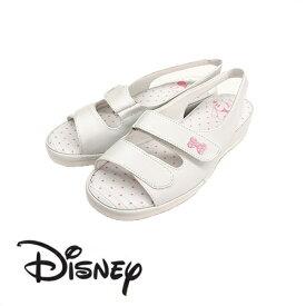 【 Disney ミッキーマウス ナースサンダル WH 6988 】ディズニー ミッキー ナースシューズ サンダル 美脚 ベルト かわいい キャラクター 抗菌 防臭 オフィスサンダル オフィス 軽い クッション OL 会社 つっかけ 楽々 おしゃれ ナース ベランダ