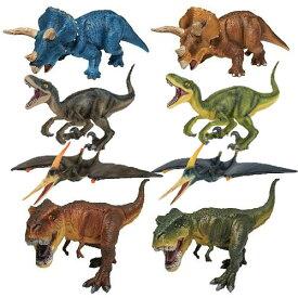 【 NEW ミニチュア プラネット 大きい 恐竜 フィギュア 4体 セット 】恐竜 人形 ダイナソー 模型 ティラノサウルス T.Rex 恐竜おもちゃ プテラノドン ヴェロキラプトル おもちゃ ミニチュア ステゴサウルス ジュラシック リアル プレゼント 男の子