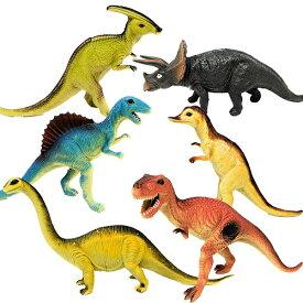 【New リアル 恐竜 フィギュア 6体セット G】人形 ジオラマ 置物 ティラノサウルス トリケラトプス スピノサウルス ヴェロキラプトル パキケファロサウルス ステゴサウルス アンキロサウルス ブラキオサウルス スーパーサウルス