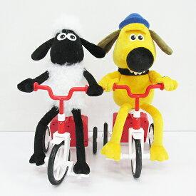 【ひつじのショーン お散歩 三輪車ギミック ぬいぐるみ】Shaun the Sheep グッズ ひつじのショーングッズ プレゼント 人気 かわいい 人形 プレゼント 動く おさんぽ 自動 動くおもちゃ ウォレスとグルミット ビッツァー シャーリー 自転車 ビッツァー