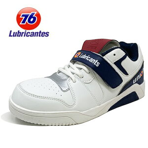 【 Union 76 Lubricants メンズ カジュアル 安全靴 ホワイト 76-3023-02】プラスチック 軽い オシャレ安全靴 作業用靴 足場 工事 紳士 スニーカー シューズ スニーカータイプ 作