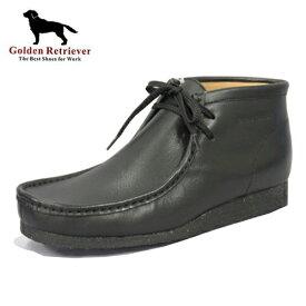 【Golden Retriever ワラビーブーツ 7783 BLK 】メンズ 靴 安い ワラビー ブーツ ショートブーツ シューズ カジュアル 紳士 紳士靴 メンズブーツ メンズシューズ 低価格 新生活 普段履き