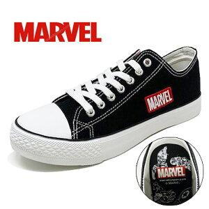 【Marvel マーヴェル キャンバスシューズ ブラック 3010-02 23〜28cm】 大人 メンズ ウィメンズ 紳士 婦人 子ども スニーカー ロゴ 靴 グッズ シューズ 靴 マーベル スパ