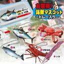【5個セット トレー入り 海鮮 マスコット セット】人形 魚 動物 リアル フィギュア 水族館 ストラップ 魚…