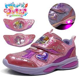 最新【トロピカル〜ジュ! プリキュア 光る靴 フラッシュ スニーカー ピンク 5412】女の子 子ども こども キッズシューズ 靴 シューズ 女児 運動靴 キャラクター 15cm 16cm 17cm 18cm 19cm ヒーリングっど トロピカルージュ キュアサマー トロピカル