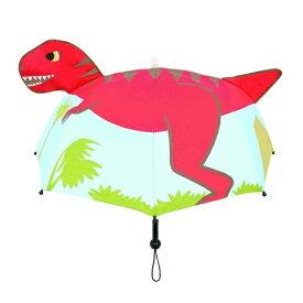 【光る 音が鳴る 子ども用 耳付 キッズ 傘 恐竜 8本骨 47cm 19327】学校 通学 子供 学童 児童 交通安全 雨具 こども 雨傘 キャラクター おもしろ雑貨 グッズ 8本骨 学童傘 キッズ傘 点滅 音 恐竜グッズ 恐竜柄