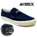 送料無料【 AVIREX アビレックス スリッポン ネイビー AV3800-02 】 アヴィレックス 履きやすい ミリタリー ス…