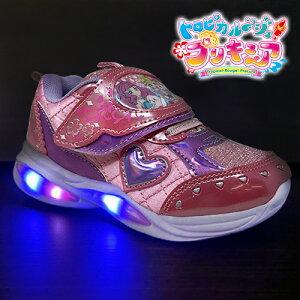 2021【トロピカル〜ジュ プリキュア 光る靴 フラッシュ スニーカー ピンク 5412-01】女の子 子ども こども キッズシューズ 靴 シューズ 女児 運動靴 キャラクター 15cm 16cm 17cm 18cm