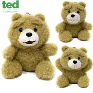 【TED テッド ボールチェーン付 手乗りサイズ ぬいぐるみ 10cm】テッドグッズ ぬいぐるみ ボールチェーン キャラクター くま クマ キーホルダー ぬいぐるみ マスコット ストラッ