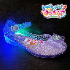 最新【トロピカル〜ジュ! プリキュア 光る ガラスの靴 5415 PPL】フラッシュ 女の子 スニーカー ビーチ グッズ 女児 バレエ シューズ 子ども靴 光る靴 サンダル パンプス