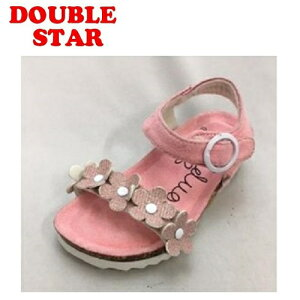 【DOUBLE STAR キッズ ジュニア ベンハー サンダル PK 3842-01】女の子 女児 子ども 子供 こども シューズ 靴 子供靴 キッズサンダル キッズシューズ ノンキャラ シンプル