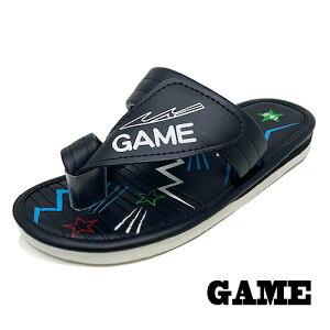 【GAME キッズ ベンハー サンダル ブラック  9515-01】小学生 女の子 男の子 子ども 子供 こども シューズ 靴 子供靴 グッズ シューズ 女児  男児 プール 海 サンダル