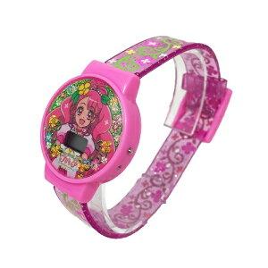 【ヒーリングっど プリキュア デジタル ウォッチ】ウォッチ 腕時計 時計 グッズ 子ども キャラクター キッズ キッズウォッチ 女の子 時計 サイズ調節可 シリコンラバー