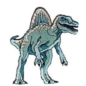 I【恐竜 ダイカット ワッペン スピノサウルス DSW007】 子ども キャラクター グッズ ワッペン ダイナソー シール ワッペン アップリケ 接着 アイロン デコシール かばん アイロン接着