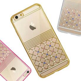 iPhone6s ケース 可愛い iPhone6 ラインストーン iPhone6plus 透明 チェック iPhone6splus スマホケース 背面ケース プレゼント プチプラ 豪華 キラキラ おしゃれ 上品 クリア 薄型 軽量 スリム iPhoneケース アイフォン iPhone 8 8Plus 7 7Plus 6 6sPlus 6s 6Plus