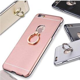 iPhoneX ケース リング付き アイフォン スタイリッシュ iPhoneXS iPhone8 シンプル メタリック iPhone7 スタンド iPhone8plus 薄型 落下防止 便利 iPhone7plus クール iPhone XS X 8 8Plus 7 7Plus 6 6Plus 6s 6sPlus スタンド iPhoneケース スマホケース