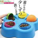 猫 早食い防止 知育おもちゃ 平置きタイプ ピンク イエロー オレンジ グリーン ブルー ホワイト/早食い防止平置き給餌器