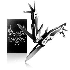 Phoenix マルチツール ナイフ ペンチ 13-in-1 ブラック 収納ケース付き/マルチナイフ