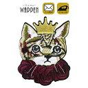 猫 ワッペン 刺繍 アイロン接着 縦9.8cm×横7.3cm ネコ ねこ cat 動物 アイロンワッペン 手芸 かわいい おしゃれ WAPP…