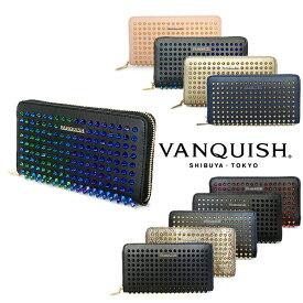 財布 レディース メンズ 長財布 ヴァンキッシュ VANQUISH スタッズ デザイン ラウンドファスナー ウォレット VQL-90010 ギフト プレゼント 誕生日 送料無料