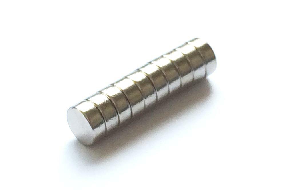 釣竿のリールのマグチューン(リール改造)やエンジンの燃費アップに。ネオジム磁石φ5mm×2.5mm(N35) 10個セット