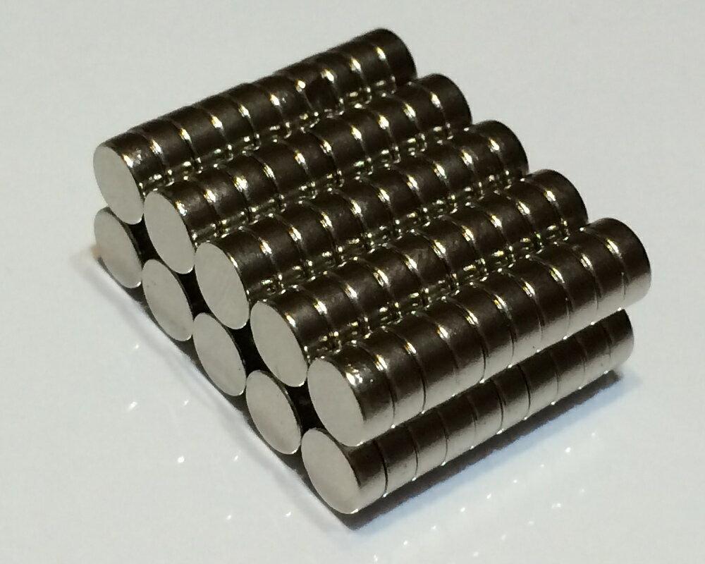 ネオジム磁石φ6mm×4mm(N35) 100個セットネオジウム 超強力 マグネット 強力磁石 永久磁石 いろいろ使えますリール改造・燃費アップ・フィギア・プラモデル・日曜大工・工作・DIY・紙留め・実験・手品・鳩よけ・手芸
