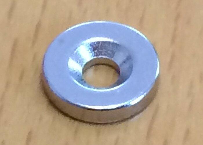 ネオジム磁石 皿穴φ23mm×3mm(N35) 1個超強力 マグネット 強力磁石皿ネジで固定できるのでいろいろ使えます。木工・プラモデル・日曜大工・工作・DIY・釣り・車・バイク・紙留め・実験