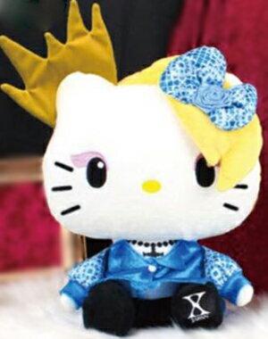 【新品】 ヨシキティ yoshikitty BIG ぬいぐるみ 青リボン X JAPAN プライズ
