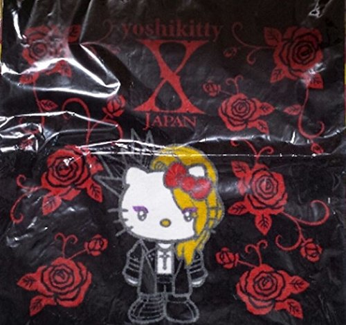 X JAPAN ヨシキティ yoshikitty ハンドタオル 黒×赤