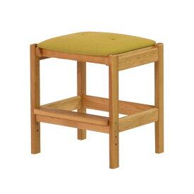 チェア・椅子 スツール 木製 北欧 カバー 布 ファブリック オーク材 無垢材 天然木 足置き 幅39 学習机 勉強机 子供 食卓 カフェ シンプル リビング ダイニング クッション 昇降機能 LEPTON STOOL 44 (WO-NA+YE) おすすめ インテリア おしゃれ 家具 送料無料