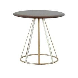 テーブル サイドテーブル ソファーテーブル 幅44 ナイトテーブル 丸 丸型 円形 北欧 ウォールナット材 無垢材 RADIA SIDE TABLE 44 (WN-MBR) インテリア おしゃれ 家具 送料無料 isseiki