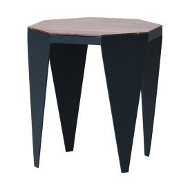 サイドテーブル テーブル ウォールナット材 アイアン スチール デザイン リビング ブラック 幅40 ミニテーブル 机 幅40 OCT 39 SIDE TABLE (WN-MBR-BK) インテリア おしゃれ 家具 送料無料 isseiki