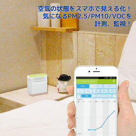 【P2倍11/19 20:00-11/26 09:59・開始4時間限定クーポン発行】Bluetooth エアクオリティ モニター REX-BTPM25V