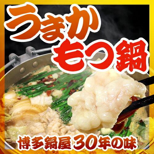 博多もつ鍋 お得セット(3〜4人分/野菜なし)【 もつ・スープ・麺・薬味2 】