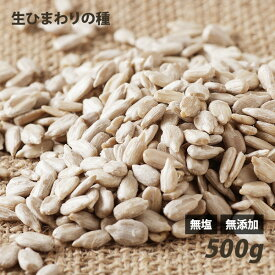 ひまわりの種(生) 500g 無塩 無添加 ローフード 酵素 ダイエット
