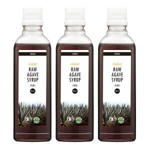 オーガニックRAWAGAVESYRUP-PURE-(ローアガベシロップ)660g×3本上品な甘さとスッキリした後味低GI有機JAS認証天然甘味料ダイエット