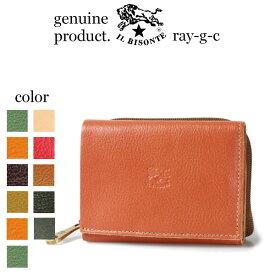 イルビゾンテ 財布 IL BISONTE 財布 2つ折り財布 定番 イルビゾンテ スモールタイプ 三つ折りコインポケット付きウォレット( 54_1_ 54192310140 メンズ レディース )( 商品番号 IB-19-10140 )