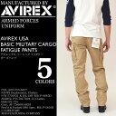 AVIREX (アビレックス アヴィレックス) AVIREX USA BASIC MILITARY CARGO FATIGUE PANTS カーゴパンツ アーミー 迷彩 …