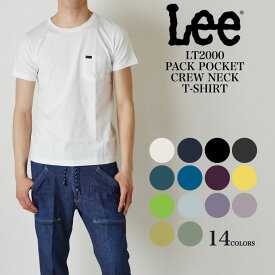 【30%OFF SALE セール】LEE PACK POCKET CREW NECK T-SHIRTS パックTシャツ 無地 ポケット付 半袖Tシャツ LT2000 NEWモデル