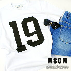 ≪2019年最新春夏モデル≫ MSGM【エムエスジーエム】ロゴ Tシャツ TEE2641MDM175 195298 WHITE(01) ビッグロゴ 大きいサイズ オーバーサイズ レディース メンズ ユニセックス XS S M L ロゴT 正規品