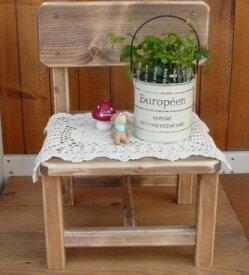 木製キッズチェアー シンプルタイプ W32×D28cm [RKI-2]子供イス 椅子 花台 フラワー台 小さい 木製チェアー 木工品 アメリカンカントリー調 丸角 角が丸い おしゃれ 可愛い カントリー家具