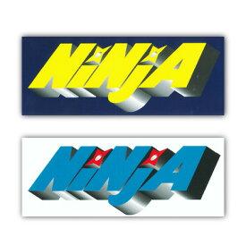 NINJA ステッカーLOGO M安田哲也カラー YELLOW/BLUE 【ニンジャ ステッカー】【メール便対応】715005