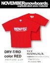 NOVEMBER ドライ Tシャツ 【カラー レッド】DRY-T RED【ノベンバー スノーボード】715005